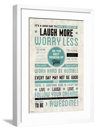 Be Awesome--Framed Poster