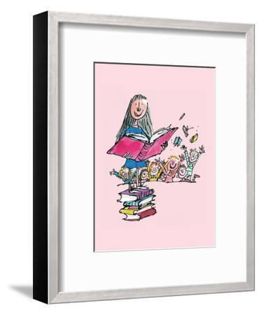 Matilda-Quentin Blake-Framed Art Print