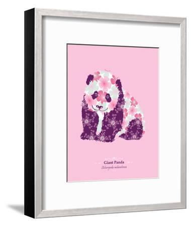 WWF Giant Panda - Animal Tails-Annette D'Oyly-Framed Art Print