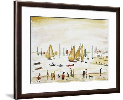 Yachts, 1959-Laurence Stephen Lowry-Framed Premium Giclee Print
