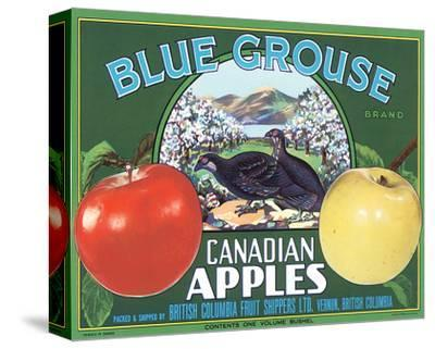 Blue Grouse Canadian Apples--Stretched Canvas Print