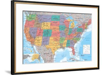 USA Map--Framed Poster