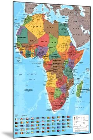 Africa Map Reference Poster--Mounted Poster
