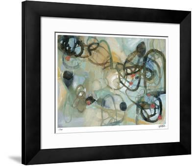 White Rose Vine 1-Liz Barber-Framed Giclee Print