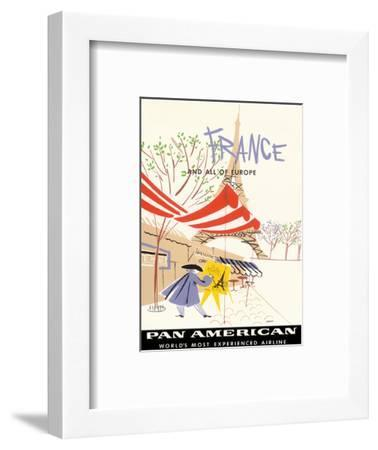 Pan American Airlines (PAA) - France and All Of Europe-A^ Amspoker-Framed Art Print