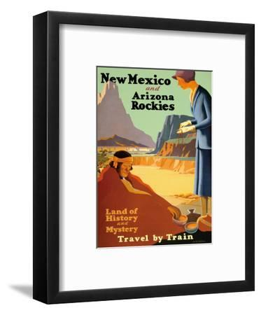 New Mexico and Arizona Rockies - Land of History and Mystery Art Print by  Kenneth and William Willmarth | Art com