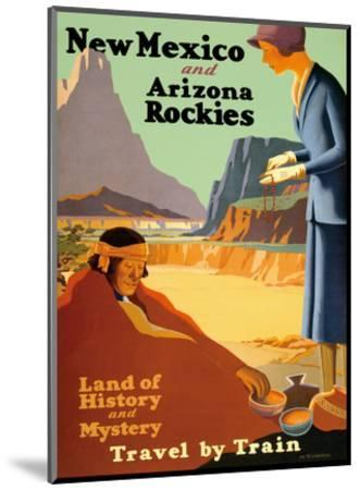 New Mexico and Arizona Rockies - Land of History and Mystery Art Print by  Kenneth and William Willmarth   Art com