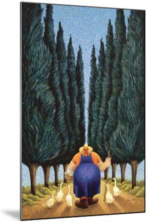 Cypress and Geese-Lowell Herrero-Mounted Art Print