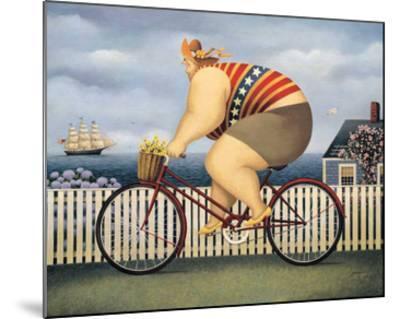 Mary's New Bike-Lowell Herrero-Mounted Art Print