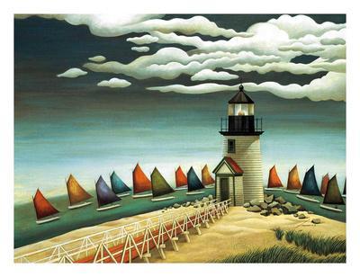 Rainbow Fleet-Lowell Herrero-Framed Art Print