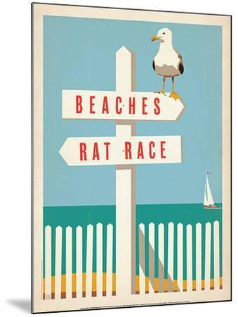 Beaches vs. Rat Race-Anderson Design Group-Mounted Art Print