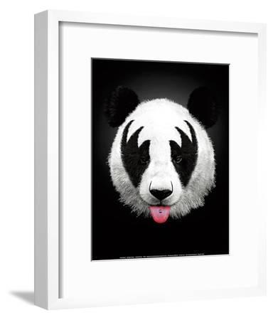 Panda Rocks-Robert Farkas-Framed Art Print