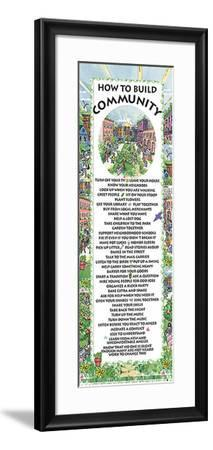 How to Build Community--Framed Art Print