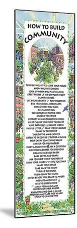 How to Build Community--Mounted Art Print