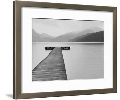 Solitude at the Pier--Framed Art Print