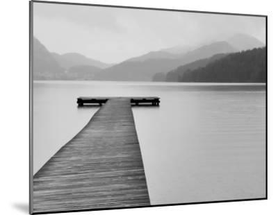 Solitude at the Pier--Mounted Art Print