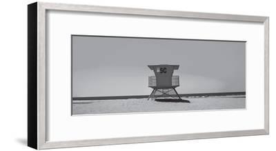 Lone Lifeguard Shack--Framed Art Print