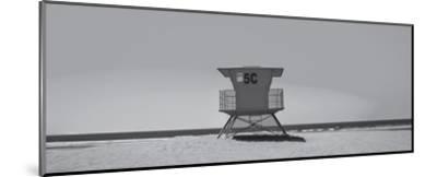 Lone Lifeguard Shack--Mounted Art Print