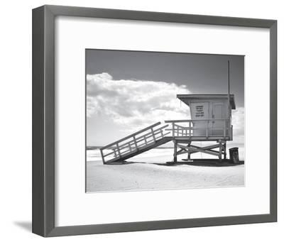 Santa Monica Beach--Framed Art Print
