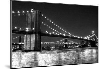 Brooklyn Bridge and Manhattan Bridge, Night-Phil Maier-Mounted Art Print