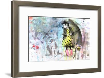 Rain Dog-Lora Zombie-Framed Art Print
