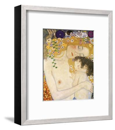 Mother and Child (detail from The Three Ages of Woman), c. 1905-Gustav Klimt-Framed Art Print