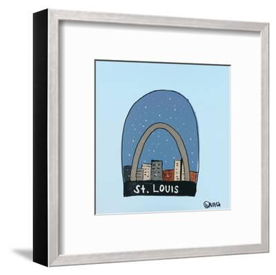 St. Louis Snow Globe-Brian Nash-Framed Art Print
