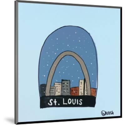 St. Louis Snow Globe-Brian Nash-Mounted Art Print