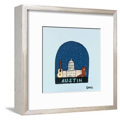 Austin Snow Globe-Brian Nash-Framed Art Print