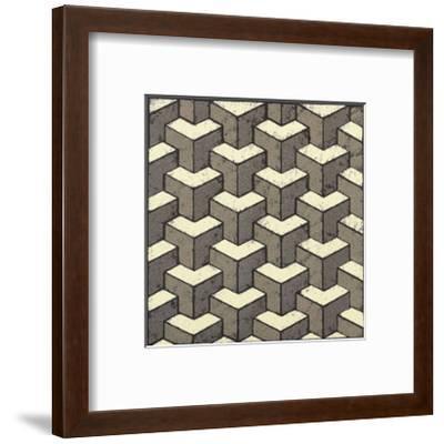 3 Part Tumbling Block-Susan Clickner-Framed Giclee Print