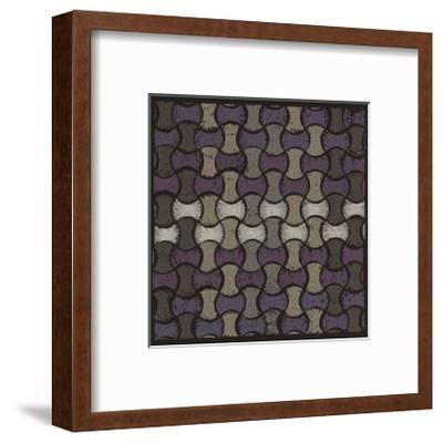 Basketweave Oval - Plum-Susan Clickner-Framed Giclee Print