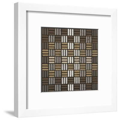 Basket Weave Triple Play (Neutrals)-Susan Clickner-Framed Giclee Print
