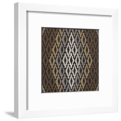 Moroccan Tile with Diamond (Neutrals)-Susan Clickner-Framed Giclee Print