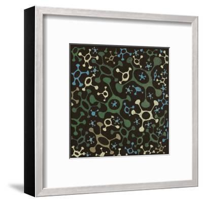 Atomic Friends (Teal)-Susan Clickner-Framed Giclee Print