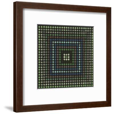 Lots of Dots (Teal)-Susan Clickner-Framed Giclee Print