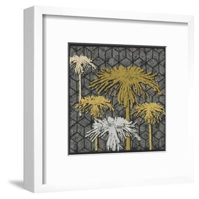 Dandelion on Tumbling Blocks (Yellow)-Susan Clickner-Framed Giclee Print