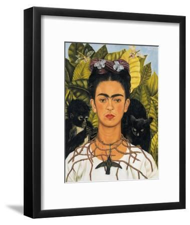 Self-Portrait with Thorn Necklace and Hummingbird, c.1940-Frida Kahlo-Framed Art Print