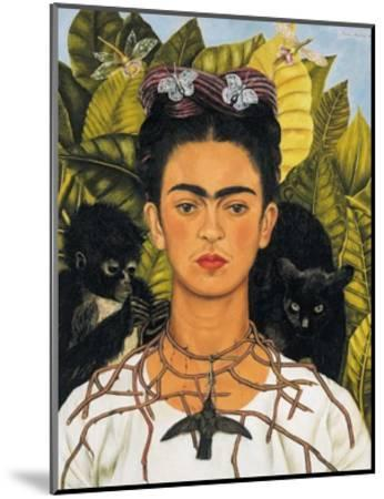 Self-Portrait with Thorn Necklace and Hummingbird, c.1940-Frida Kahlo-Mounted Art Print