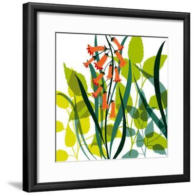 Flower Applique II-Laure Girardin-Vissian-Framed Giclee Print