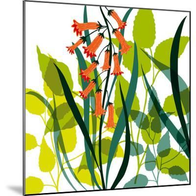 Flower Applique II-Laure Girardin-Vissian-Mounted Giclee Print