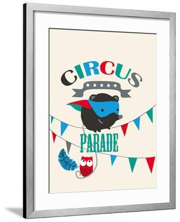 Circus Parade II-Laure Girardin-Vissian-Framed Giclee Print