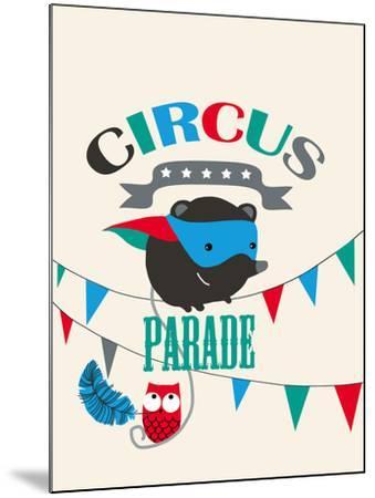 Circus Parade II-Laure Girardin-Vissian-Mounted Giclee Print
