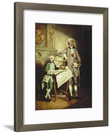 Le Precepteur et Son Eleve-Thierry Poncelet-Framed Premium Giclee Print