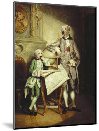 Le Precepteur et Son Eleve-Thierry Poncelet-Mounted Premium Giclee Print
