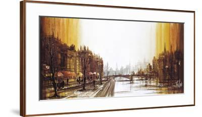 Cafe Quai-Ron Folland-Framed Premium Giclee Print