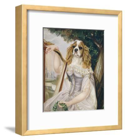 Demoiselle a la Lyre-Thierry Poncelet-Framed Premium Giclee Print