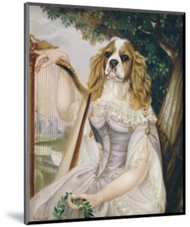 Demoiselle a la Lyre-Thierry Poncelet-Mounted Premium Giclee Print