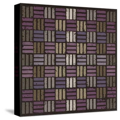 Basketweave Triple Play - Plum-Susan Clickner-Stretched Canvas Print