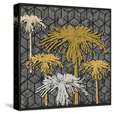 Dandelion on Tumbling Blocks (Yellow)-Susan Clickner-Stretched Canvas Print