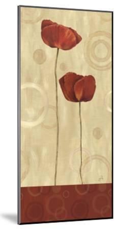 Pop Art Poppies I-Daphne Brissonnet-Mounted Giclee Print